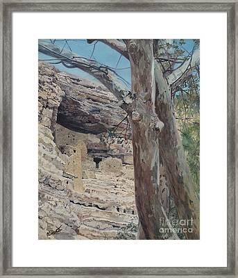 Montezuma's Castle Framed Print by Barbara Barber