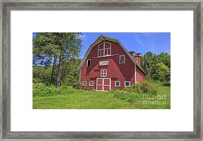 Montford Farm Red Barn Orford New Hampshire Framed Print by Edward Fielding