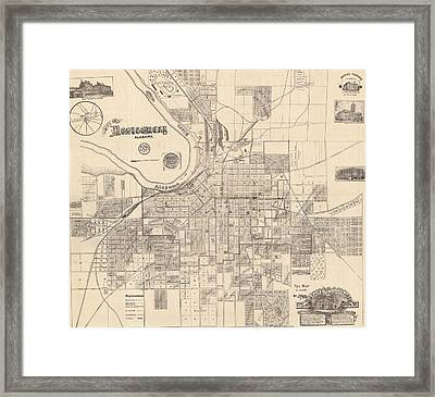 Montgomery Alabama 1899 Framed Print by Mountain Dreams