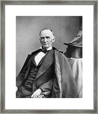 Montgomery Blair 1813-1883 Was Among Framed Print by Everett