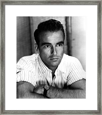 Montgomery Clift, Ca 1953 Framed Print