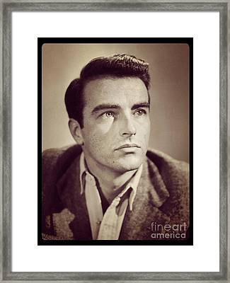 Montgomery Clift Vintage Hollywood Actor Framed Print