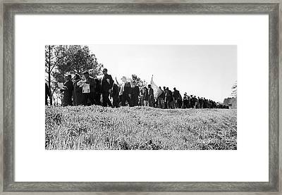 Montgomery March, 1965 Framed Print