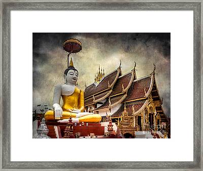 Monthian Temple Buddha Framed Print by Adrian Evans