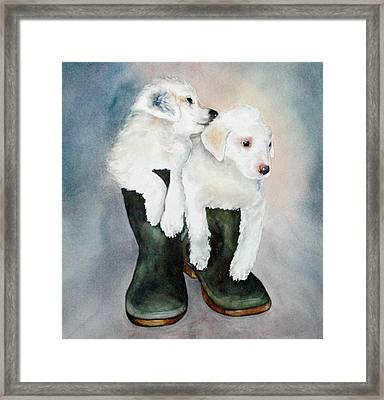 Monti And Gemma Framed Print