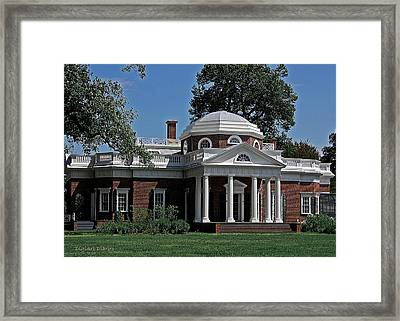 Monticello Framed Print by DigiArt Diaries by Vicky B Fuller