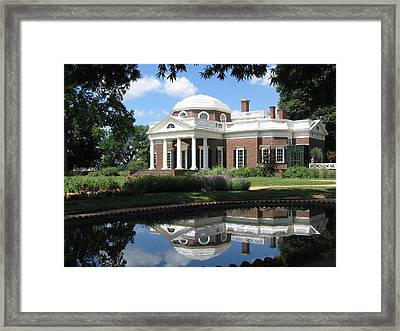 Framed Print featuring the photograph Monticello by Doug McPherson