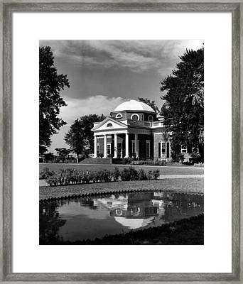 Monticello, Home Of Thomas Jefferson Framed Print