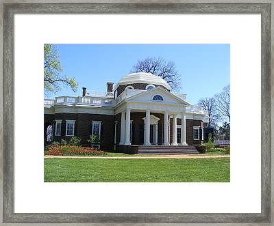 Monticello Framed Print by James and Vickie Rankin