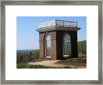 Monticello's Overlook Framed Print by James and Vickie Rankin