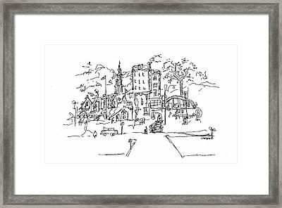 Montmarte Framed Print by Pamela Canzano