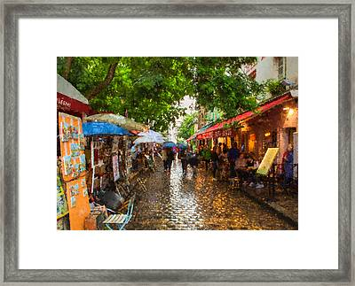 Montmartre Art Market, Paris Framed Print