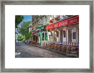 Montmartre Cafe Framed Print by Inge Johnsson