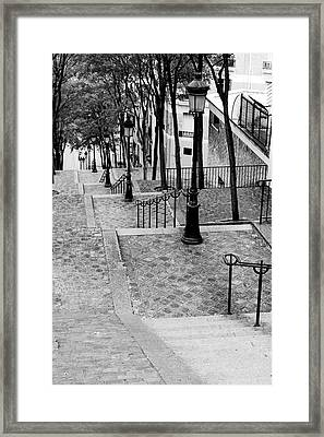 Montmartre Stairway Paris Framed Print by Pierre Leclerc Photography