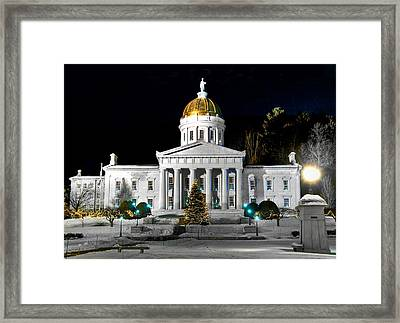 Montpelier Christmas Eve Night Framed Print