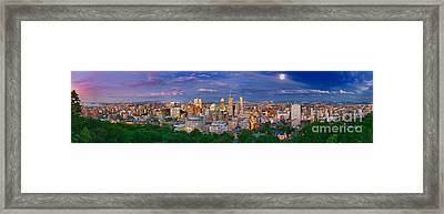 Montreal At Night Framed Print