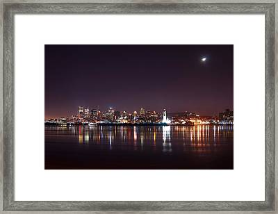 Montreal At Night Framed Print by Martin Rochefort