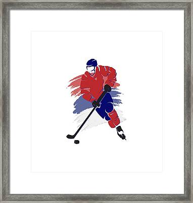 Montreal Canadiens Player Shirt Framed Print by Joe Hamilton
