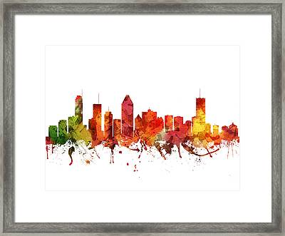 Montreal Cityscape 04 Framed Print by Aged Pixel