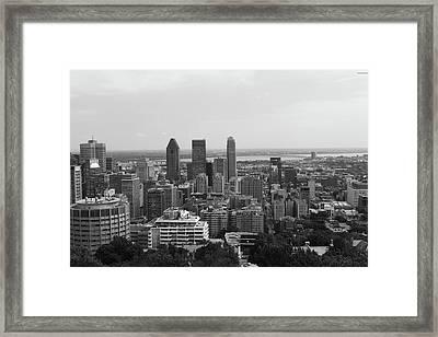 Montreal Cityscape Bw Framed Print