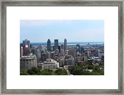 Montreal Cityscape Framed Print