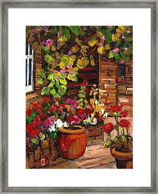 Montreal Cityscenes Homes And Gardens Framed Print