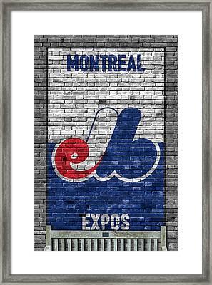 Montreal Expos Brick Wall Framed Print by Joe Hamilton