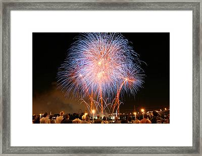 Montreal Fireworks Celebration  Framed Print by Pierre Leclerc Photography
