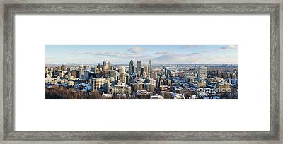 Montreal In Winter Panorama Framed Print by Jane Rix