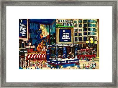 Montreal International Jazz Festival Framed Print by Carole Spandau