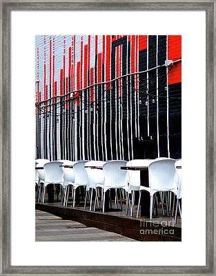 Montreal Outdoor Cafe Framed Print