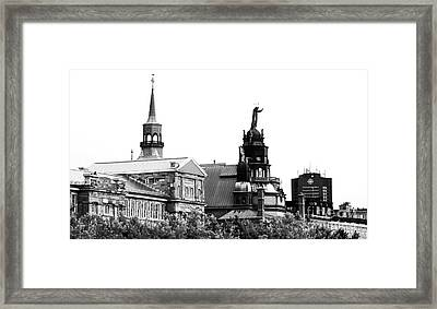 Montreal Port View Framed Print by John Rizzuto
