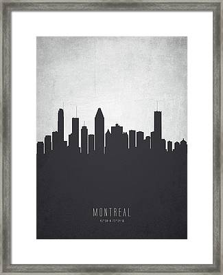Montreal Quebec Cityscape 19 Framed Print