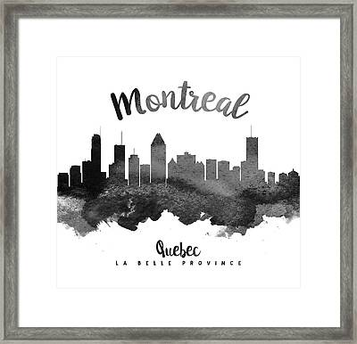 Montreal Quebec Skyline 18 Framed Print by Aged Pixel
