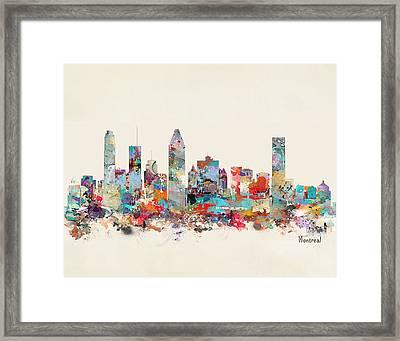 Montreal Quebec Skyline Framed Print by Bri B