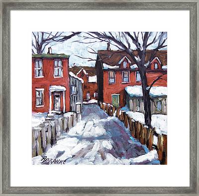 Montreal Scene 02 By Prankearts Framed Print by Richard T Pranke