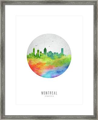 Montreal Skyline Caqcmo20 Framed Print by Aged Pixel