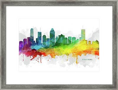 Montreal Skyline Mmr-caqcmo05 Framed Print by Aged Pixel