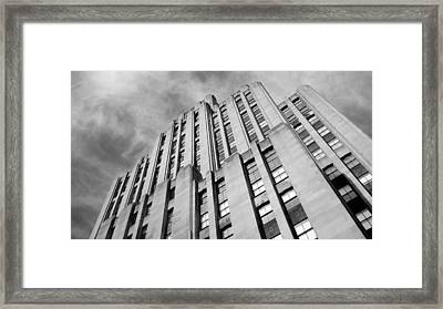 Framed Print featuring the photograph Montreal Skyscraper by Valentino Visentini