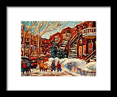 The Main Montreal Framed Prints