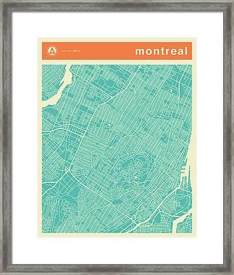 Montreal Street Map Framed Print