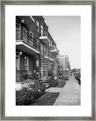 Montreal Street Scene Framed Print by Reb Frost