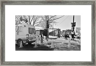 Montreal Street Works Framed Print by Reb Frost