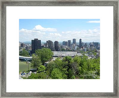 Montreal View From Mcgill Residences Framed Print
