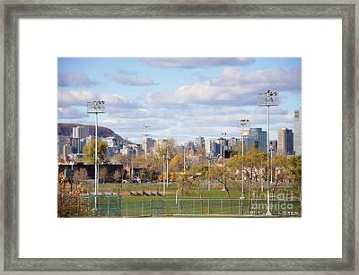 Montreal View From Verdun Framed Print