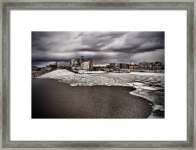 Montreal's Old Port Framed Print by Michel Filion