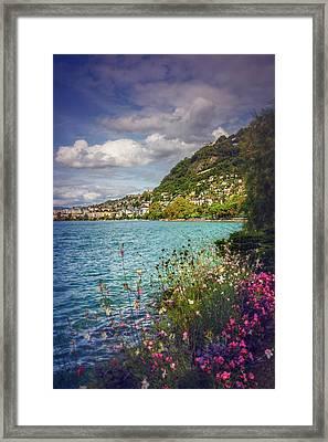 Montreux Lake Geneva  Framed Print
