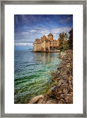 Montreux Switzerland Chateau De Chillon  Framed Print
