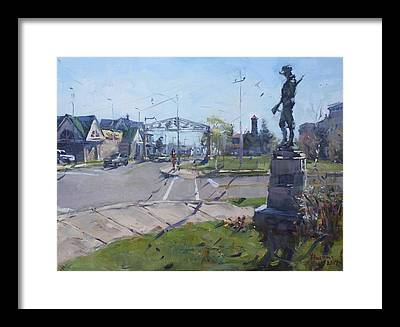 Monument Ave Framed Prints