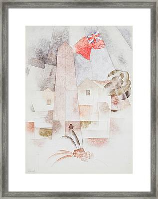 Monument, Bermuda Framed Print by Charles Demuth